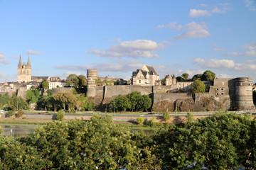 Stadtpanorama von Angers, Frankreich