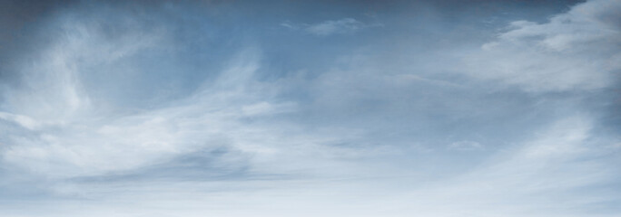 Fototapeta Panoramic Blue Sky Background with atmospheric Clouds