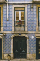 typical door and window with tiles of Lisbon