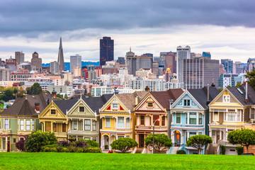 Fotomurales - San Francisco, California, USA from Alamo Square