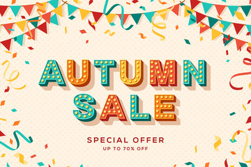 Autumn sale advertisement template