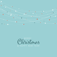 Minimalist Christmas flyer/card template