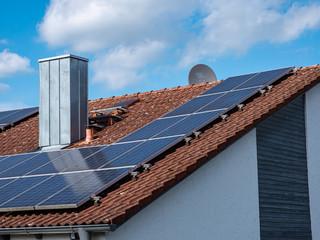 Solardach eines Eigenheim