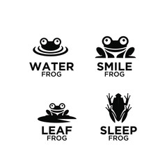 frog logo icon designs vector
