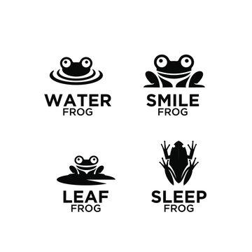 frog logo icon designs vector