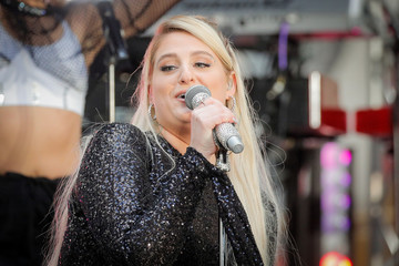 Singer Meghan Trainor performs on NBC's 'Today' show in New York