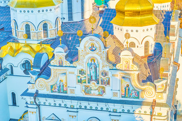 Foto op Aluminium Kiev Frescoes on the Dormition Cathedral in Lavra monastery in Kiev, Ukraine