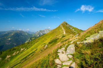 view on the beautiful landscape of Tatra mountains in Poland