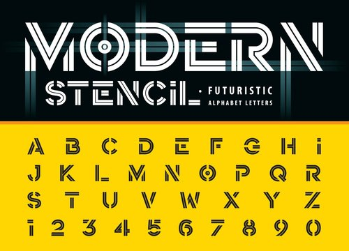 Modern Stencil font