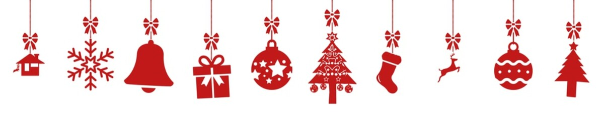 cb47 ChristmasBanner - german - Hängende rote nahtlose Weihnachtsdekoration - english - red seamless christmas decoration border (christmas sock) - banner 5to1 - xxl g8522