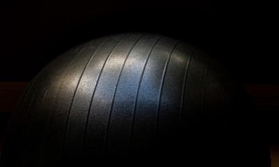 Unique picture of an exercise ball