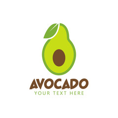 Avocado graphic design template vector isolated illustration