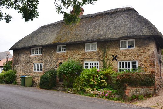 Old English house in rural areas of Great Britain