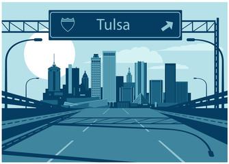 Fototapete - Tulsa Oklahoma skyline