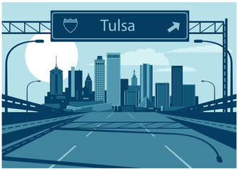 Wall Mural - Tulsa Oklahoma skyline