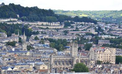 Bird eye view of Bath, United Kingdom