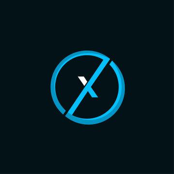 Letter X Circular Innovation Creative Modern Logo