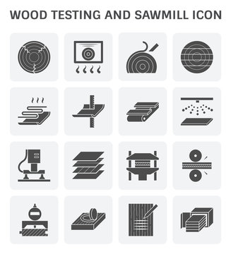 Wood sawmill icon