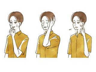 男性-表情