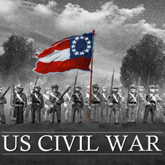 Confederate Soldiers. US Civil War 1860's