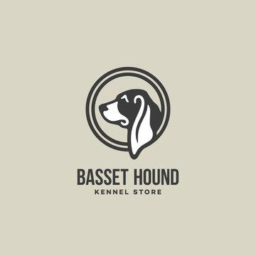 Basset hound logo