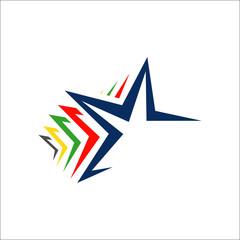 premium quality five stars 5 star logo vector design illustration