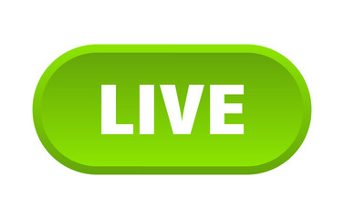 live button. live rounded green sign. live Wall mural
