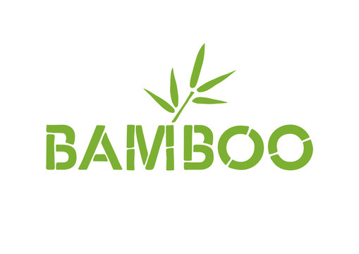 Bamboo Font Icon. Bamboo Text Design. English Vector Logo.
