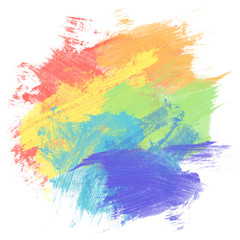 Rainbow watercolor paint background