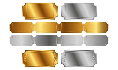 Goldene und silberne Tickets