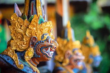 Foto op Plexiglas Indonesië Colorful Bali God statue, gunung kawi sebatu, island of Bali