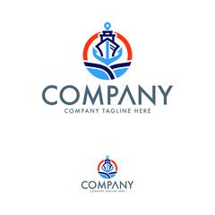 Creative Shipping Logo Design Template