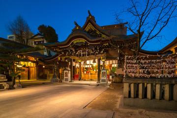Wall Mural - Kushida Shrine at night in Hakata, Fukuoka japan