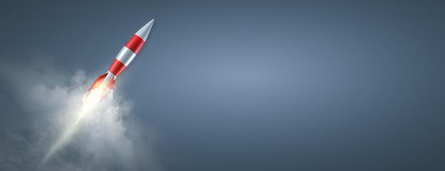 Obraz Erfolg - Durchstarten - Rakete - fototapety do salonu