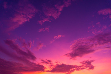 Deurstickers Candy roze Beautiful clouds sky. Sunset sky. Gradient Sky pink and purple.jpg