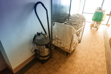 vacuum cleaner and Housekeeping Cart for housekeeper in hotel