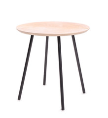Small table on white background