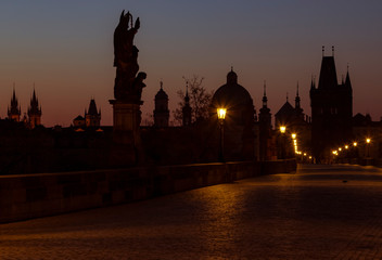 Wall Murals Prague Charles bridge at Sunrise, Prague, Czech Republic