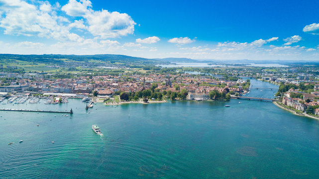 Blick auf den Trichter Konstanzer am Bodensee