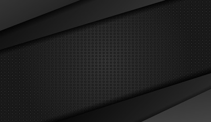 Abstract metal background. Tech dark design with  Vector background.