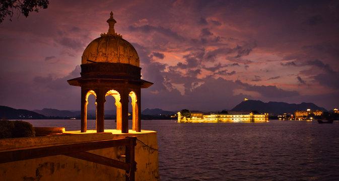 View of Heritage Resort, Lake Palace, Udaipur, Rajasthan, India