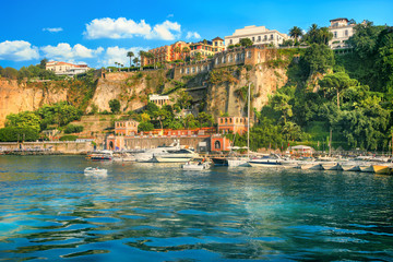 Wall Mural - Harbour and port in Sorrento. Campania, Italy