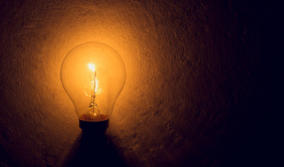 Pictures of bright light bulbs showing creativity and inspiration. idea bulb.