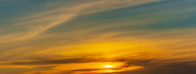 clouds in beautiful sunset light sky