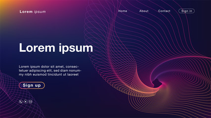 Background abstract purple yellow light line color for Homepage