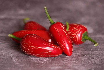 Canvas Prints Hot chili peppers Red chili peppers on wooden background