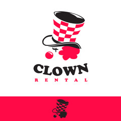 logo icon clown rental