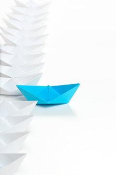 paper boat race
