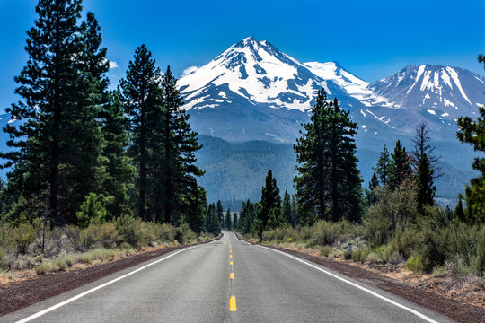 Road to Mt. Shasta
