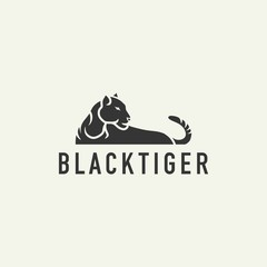 tiger logo sign - design vector illustration of a light background